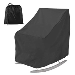 Housse de Chaise de Jardin,Housse de Protection pour Meuble Robuste Tissu Oxford 210D,Housse de Chaise Empilable Imperméable pour Extérieur,99x83x70CM (Style C)
