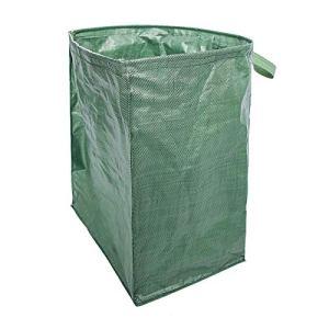 HUIKJI Sac de jardin réutilisable avec poignées, facile à remplir et à vider, sac à feuilles, conteneurs de déchets, sacs à déchets de plantes 180 litres