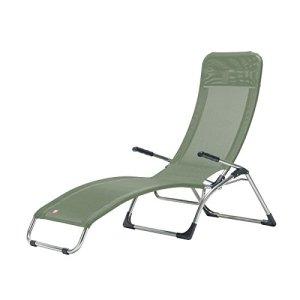 Jan Kurtz Fiam Samba–Structure: Aluminium Housse: plastique Tissu Chaise longue relax Sauge