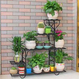 LDDYC Jardin de Support de Plante Robuste de 5 Niveaux à Niveau à 5 Niveaux |Décoration de la Maison d'intérieur et d'extérieur Moderne |Résistant aux intempéries, très Robuste et Bien Faite