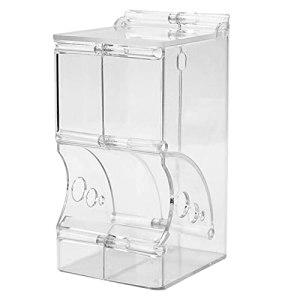 LIUZKH Samll Distributeur automatique de nourriture pour animal domestique Hamster Plastique transparent Simple Solide Durable (B)