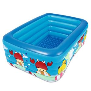 LMJ 3,88 m piscines gonflables de Taille complète épaissir la Piscine Mousse pour la Famille de la Famille Backyard NflaTable Piscines Boutiers (Color : Blue)