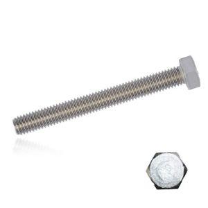 Lot de 200 vis à tête hexagonale M12 x 220 en acier inoxydable A2 Classe de résistance 70 Filetage total