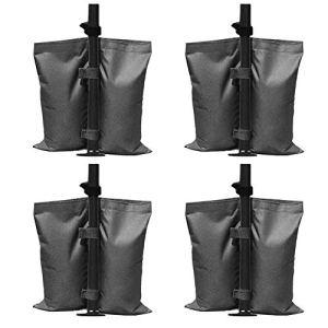 Lot de 4 sacs de sable pour tonnelle, sacs de lestage à double couture, poids de pieds pour auvent de tente, pare-soleil, parapluie