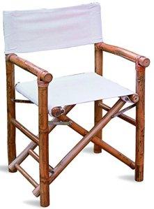 Lot de 6 Chaises de Jardin en Bambou Coloris chêne – Dim : H 85 x L 61 P 59 cm