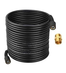 M MINGLE Tuyau de nettoyeur haute pression 15 m x 0,6 cm pour la plupart des marques, compatible M22 14 mm et M22 15 mm, 3600 PSI