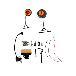 MagiDeal Pièce Accessoire Carburateur Bobine + Bouchon d'Essence Huile pour Tronçonneuse STIHL 020 020T 021 023 024 025 026 028 034 036 038 048