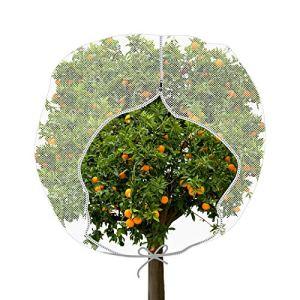 Maille de Jardin Anti-Insectes Large Couverture de Plante avec Zip Sac Forme de H Filet de Jardin Anti-Insectes Couverture de Plante pour Protection de Plante Fruits (72 x 72 Pouces)