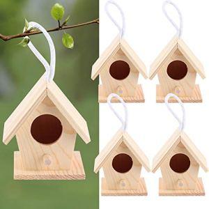 Maison d'oiseau en Bois, nids d'oiseaux, Maison d'oiseau en Bois décor de Jardin Non Toxique Platane Bois pour Hirondelles Oiseaux