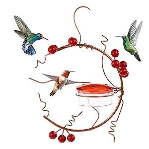 Mangeoire pour colibris. Mangeoire suspendue pour colibris, mangeoire à 4 becs, parfaite pour décorer votre jardin.