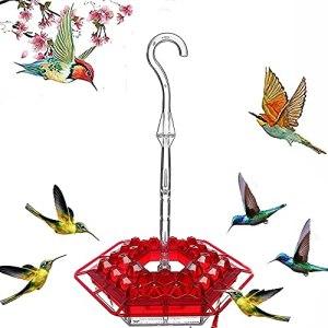 Mary's Sweety – Comedero Para colibríes Con percha y foso Para hormigas incorporado, fácil de limpiar, el Mejor Regalo Para comederos de colibrí Para familiares