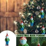 Minitichy Ornement de Noël 2020 Santa Claus Wearing_Maks, Souvenir personnalisé Père Noël Debout, Ornement de Noël de quarantaine Version 2020, décoration pour la Famille 3 ″ de Haut