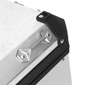 Mothinessto Boîte latérale de Coffre à Bagages Unique pour Quad pour Une Conduite en Toute sécurité pour la Conduite de Nuit pour Les Voyages sur la Route