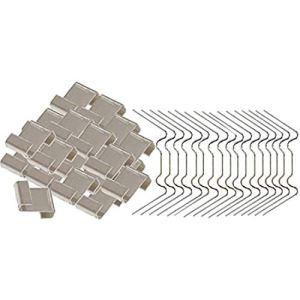 NEYOANN Lot de 100 clips de fixation en acier pour vitre de serre, vitrage de serre, clips métalliques et clips en Z