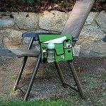 Nysunshine Sac de rangement imperméable en polyester pour accoudoir de chaise de plage avec 4 poches pour chaise de plage avec crochets de suspension
