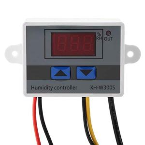 Oumefar 1 Pièces XH-W3005 Interrupteur D'hygromètre de Contrôleur D'humidité à LED Numérique avec Capteur D'humidité, Sortie Directe Programmable 0~99% HR(220V)