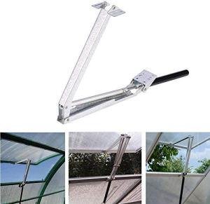 Ouvre-fenêtre de serre, ouvre-fenêtre de protection solaire automatique contre la surchauffe de serre chaude, ferme d'outils de jardin flexible réglable réglable pour ouverture de fenêtre de serre
