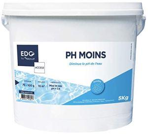 PH Moins Piscine – Réduit le pH – Améliore le Confort de Baignade et la Qualité de l'Eau – Haute Concentration – Poudre – Seau 5kg – Gamme Traitement Et Accessoires Piscine EDG Access