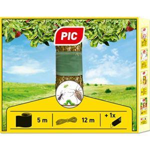 PIC – Collerette d'arbre avec Ruban de Fixation et Couteau de Coupe, piège à Colle pour chenilles, Insectes et Autres Insectes nuisibles