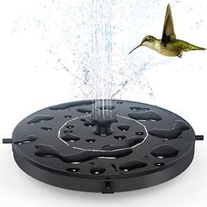 Pompe Fontaine Solaire 1W – THEGUS Fontaine Solaire Extérieur avec 6 Buses, Flottante Autonome pour Décorations de Patio et de Jardin d'étang de Réservoir de Poissons de Bain d'oiseaux