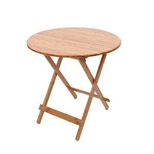 Produits ménagers/meubles Art bambou ronde Table pliante, portable Table pique-nique, Restaurant Table (Taille: 80 * 80cm) (Size : 80 * 80cm)