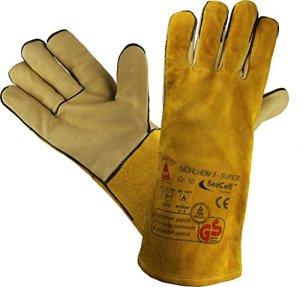 Profi Gants de travail Gants de sécurité pour les soudeurs MÜHLHEIM-II-SUPER jaune – Taille: 8