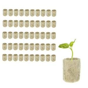 Rockwool Cube propagation hydroponique bloc Légumes cylindriques Serres Culture Seedling Jardin Accessoires 50PCS fournitures de plantation d'intérieur