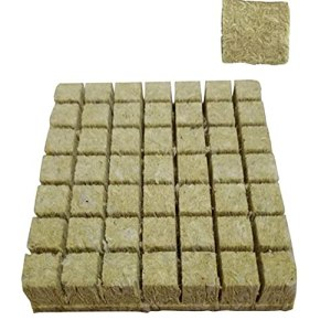 Rockwool Cultivez cubes Pépinière Bloc hydroponique Culture Soilless Compress base pour la croissance des plantes Style1 50PCS fournitures de plantation hydroponiques