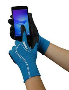 ROSTAING CANADA gant serie TOUCH compatible smartphone Travaux demi-Saison taille 8, Noir/Turquoise, 34 x 12 x 3 cm