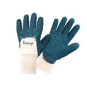 Rostaing PROTECT-IT06 Gant de Jardinage Rosiers et Petits Épineux Imperméable Latex Épais Taille 07, Vert Bleu, 6