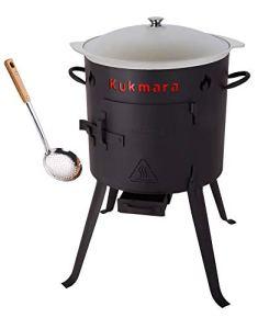Rukauf. Utschak Ensemble de chaudière à goulasch en aluminium 9 l + écumoire pour barbecue