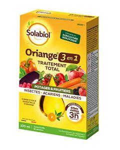 Solabiol SOTOTPOT100   100ml   Jusqu' à 25L de Solution   Oriange Traitement Total 3 en 1   Insectes Acariens Maladies   Rosiers Arbres et Arbustes   A Base d' Huile Essentielle d' Orange Douce