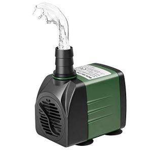 SOUSLOW Pompe à eau submersible 25 W 1500 L/h AC220-240V avec 2 buses pour aquarium, étang, fontaines de jardin, système hydroponique