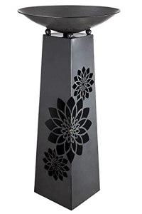 Support en métal Mandala complet avec plateau et bac à plantes.