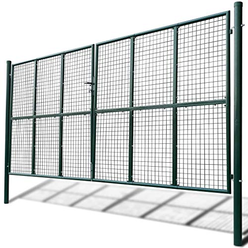 taofuzhuang Portail à Mailles 415 x 225 cm / 400 x 175 cm Quincaillerie Clôtures et barrières Portillons