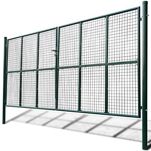 taofuzhuang Portail à Mailles 415 x 250 cm / 400 x 200 cm Quincaillerie Clôtures et barrières Portillons