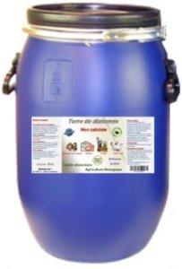 Terre de Diatomée 14 kg Non calcinée/Alimentaire – Bidon Solide et réutilisable. Fermeture par cerclage Qui Garantie l'étanchéité.