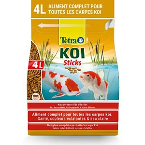 Tetra Pond Koï – Aliment Complet Premium pour Carpes Koï de Bassin – Activateur Naturel de Couleurs – Enrichi en Oligo-éléments, Vitamines essentiels, Caroténoïdes – Hautement digestible – 4 L