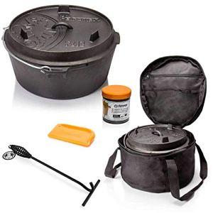 ToCi Petromax Kit de démarrage avec Sac et raclette pour Le Couvercle (E) ft 12-10,8 Liter Casserole sans Pieds