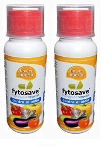 Toute culture Fito Vaccin végétal écologique FYTOSAVE. Prévention de l'oreille et des cendres. Cos-oga 1,25 %. 150 ml (2 x 75). Traitement 800-1000 m2.