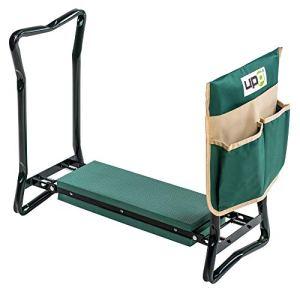 UPP Tabouret de jardin pliable I Siège extérieur de jardinage I Repose genoux I Supporte jusqu'à 150kg I Vert I 60 × 27 × 47 cm