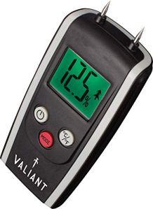Valiant Fir421Valiant Digital l'humidité Mètre pour bois de chauffage/bois et briques–Noir