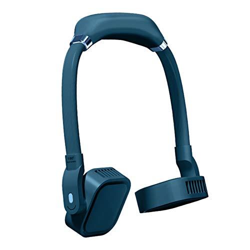 Ventilateur de Cou Portable, Ventilateur Rechargeable Par USB Mini Ventilateur de Sport Personnel Pour les Voyages Sportifs, lecture de Bureau En Plein Air, 3 Vitesses Réglable, Tête Carrée Rotative