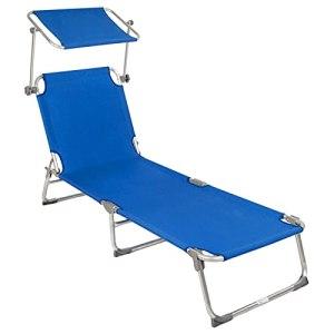 VERDELZ Auvent de Chaise Pliante, Chaise Longue Portable, Peut être utilisé sur la terrasse de la Plage au Bord de la Piscine