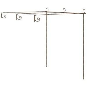 vidaXL Arche de Rosiers de Jardin Pergola de Jardin Tonnelle de Patio Plantes Grimpantes Arche de Terrasse Extérieur Marron Antique 3x3x2,5 m Fer