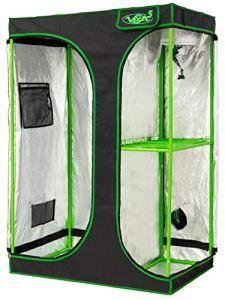VITA5 Chambre de Culture 2 en 1   Box Culture Indoor pour Homegrowing   Toile résistante à la lumière et aux déchirures   Imperméable Grow Tent   90x60x135 cm