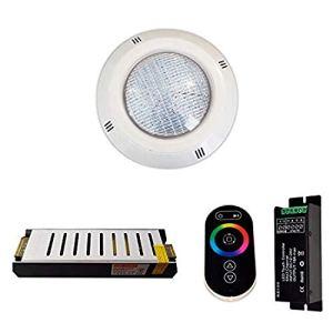 Warmpool Pack 5 Projecteurs 4 Fils RGB Piscine 35W 2.650 lumens + Télécommande + Alimentation de sécurité (5 projecteurs)