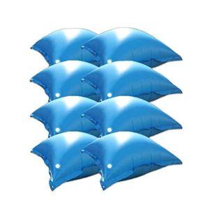 well2wellness Coussins gonflables avec ventil / Coussins flotteurs d'hivernage pour piscine – 8 coussins