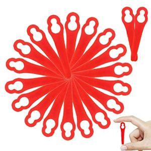 WELLXUNK® Lames en Plastique de Rechange, 80 Lames en Plastique Coupe Bordure, Tondeuse à Gazon en Plastique Lames, Lame de Rechange pour Coupe, pour Frt18A Frt18A1 Art 46155 Frt20A1