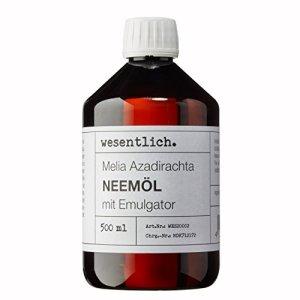 wesentlich. Huile de neem avec émulsifiant 500ml – Prête pour une application immédiate